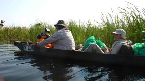 mokoro v deltě Okawango